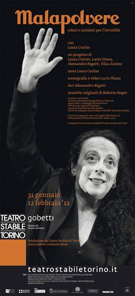 """"""" Malapolvere. #Veleni e #antidoti per l' #invisibile"""" con Laura #Curino  #Gobetti #teatro #theatre #spettacoli"""