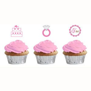 Bride To Be Dots Cupcake Topper Picks - $6.95 See more at http://myhensparty.com.au/