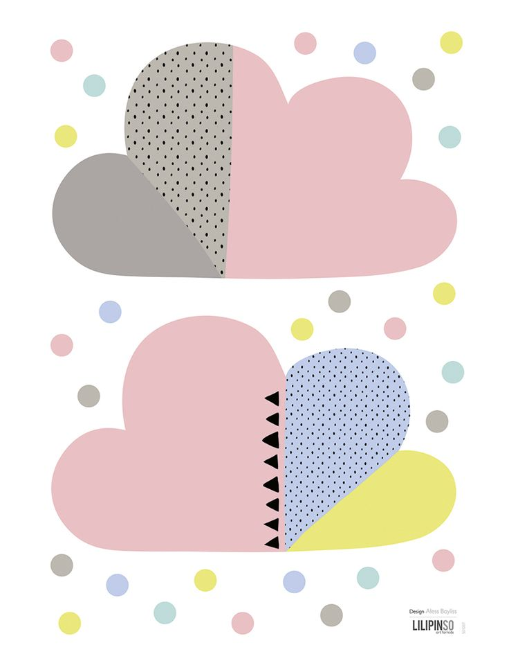 Ikea Dresser Secure To Wall ~ Lilipinso Kinderzimmer Wandsticker 'Wolken' rosa bunt  im Fantasyroo
