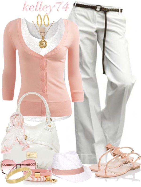 Stylish Outfit: Fashion Outfits, Spring Colors, Stylish Outfits, White Outfits, Fashionista Trends, White Pants, Casual Outfits, Work Outfits, Spring Outfits
