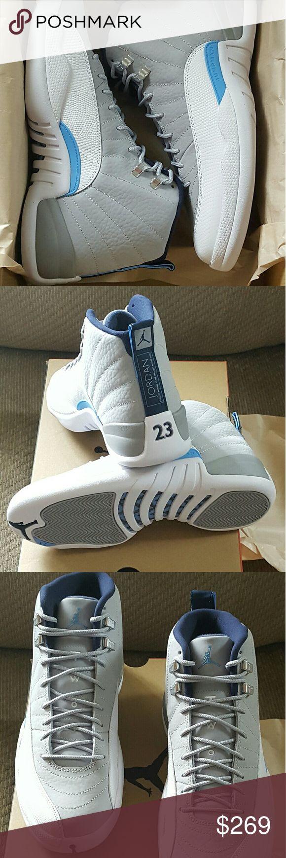 Air Jordan 12 Retro UNC 100% authentic Air Jordan 12 Retro UNC deadstock comes with original box original receipt size 10 Nike Shoes Athletic Shoes