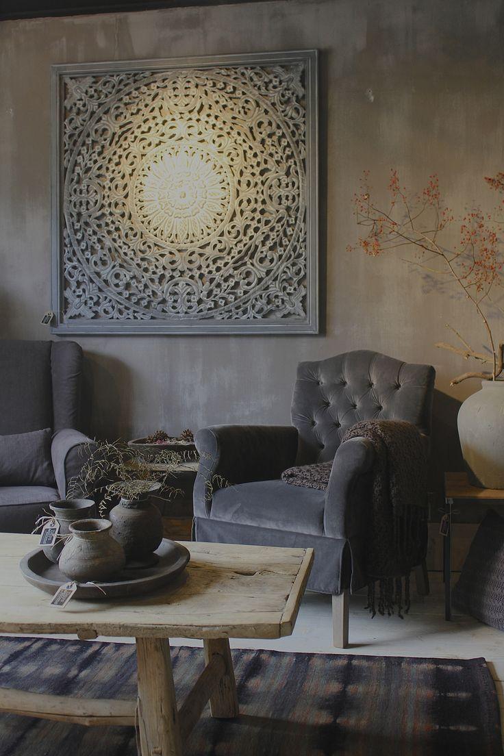 Home decoration autrefois rideaux - Campagne Et Brocante La Touche D Agathe Vintage Rustic Wood Bois Lin Marron Rideaux Rustiquesmarronsd Coration