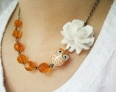 : Little Owl, Beads Necklaces, Necklace Ideas, Owl Necklaces, Owl Jewelry, Cute Necklaces, Owl Beads, Flowers Necklaces, Cute Owl