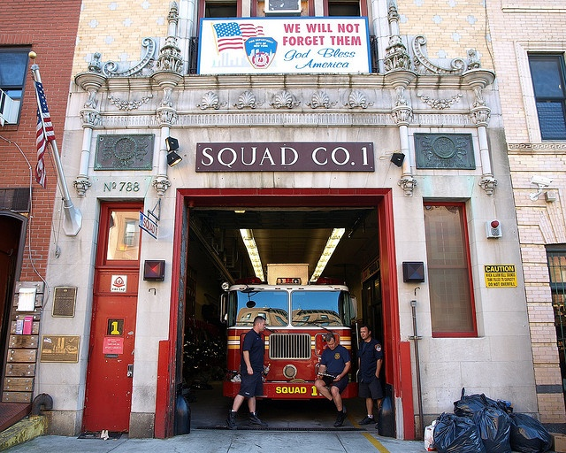 FDNY Firehouse Squad 1, Park Slope, Brooklyn, New York City by jag9889, via Flickr shared by nyfirestore.com