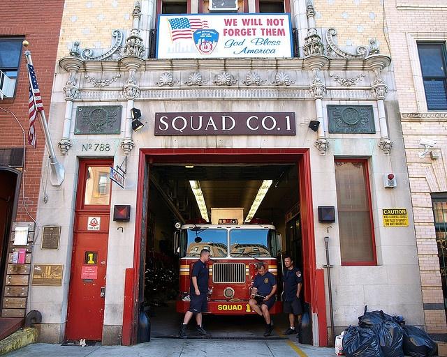 FDNY Firehouse Squad 1, Park Slope, Brooklyn, New York City by jag9889, via Flickr shared by nyfirestore.com - #FireStation