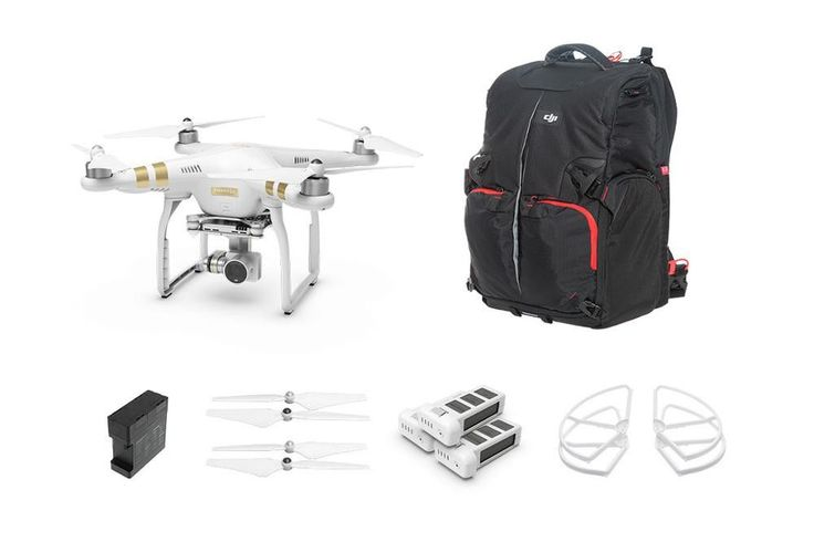 DJI Phantom 3 Professional Everything Kit with High Quality FPV Camera Drone RC Helicopter with 4K HD Camera and 3-Axis Gimbal