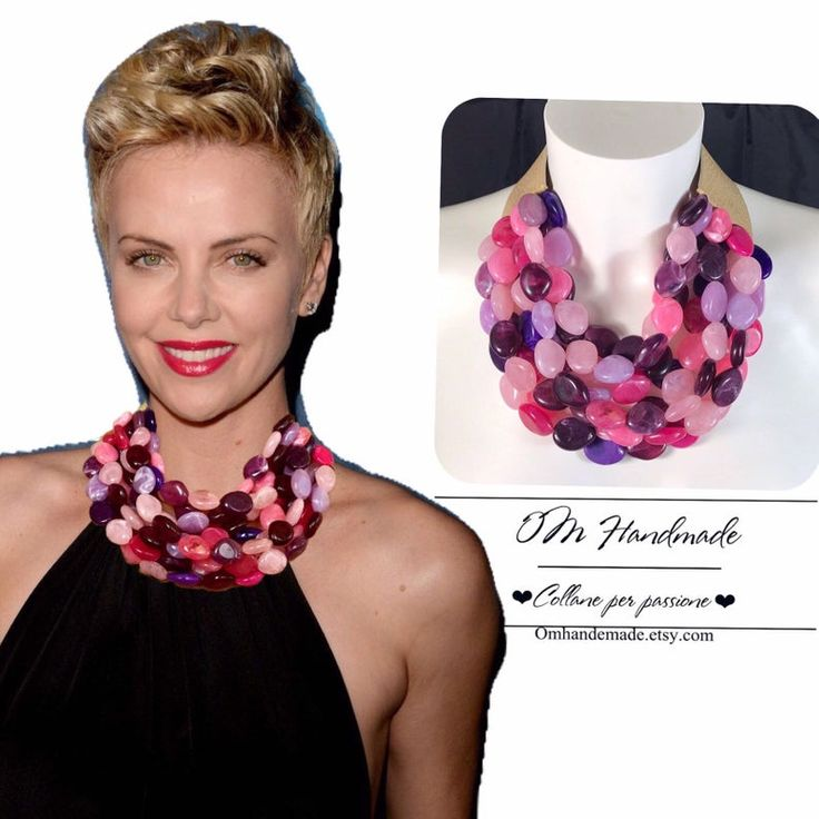 sturdy necklace colorful necklace gift for her Purple necklace choker necklace fuchsia necklace magenta choker pink necklace