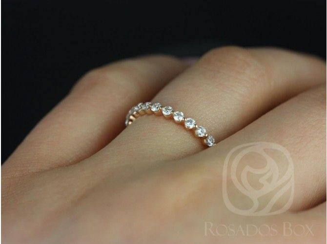 Rosados Box 14kt Rose GoldNaomi/Petite Bubble & Breathe Rose Gold Diamond ALMOST Eternity Band