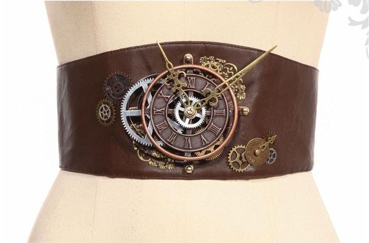 Steampunk Victorian Burlesque Corset Style Brown Clock Belt by RQ-BL in Clothing, Shoes, Accessories, Women's Accessories, Belts | eBay!