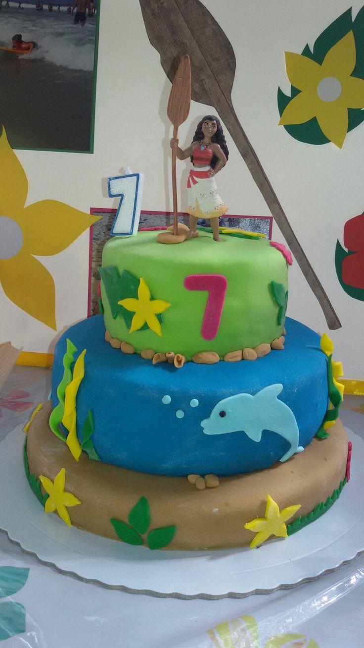 Vaiana Bolo de aniversário