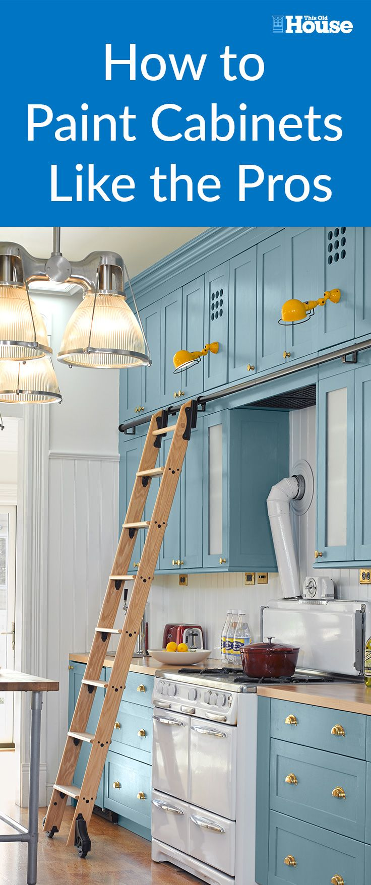 If your kitchen cabinets are solid but dated and dark, a fresh coat of paint can go a long way toward transforming the space without draining your bank account. You can hire a pro to spray-paint them for a thousand dollars or more, but there's a less costly, and less messy, alternative to consider: Use a brush and paint the cabinets yourself.
