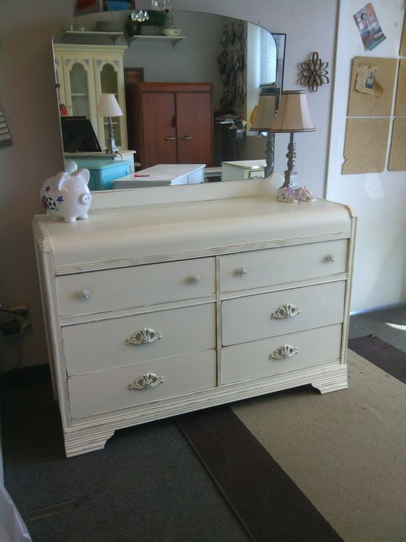 Vintage Art Deco Painted Dresser By HandpaintedbyCookie On Etsy, $329.00