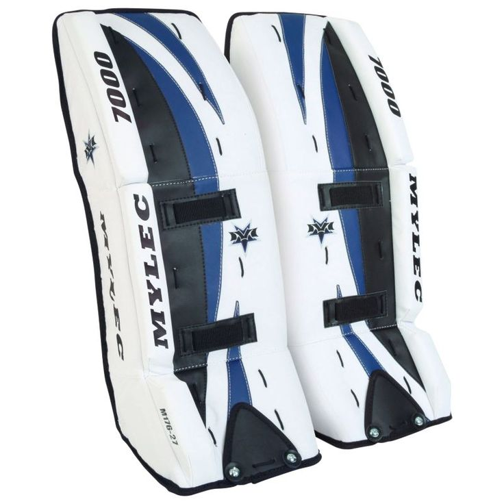 Mylec 7000 Series Ultra Lite Ice (White)/Street Hockey Goalie Pads