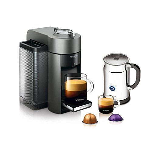 nespresso vertuoline evoluo coffee u0026 espresso maker with aeroccino plus milk frother red