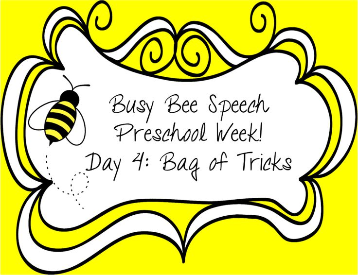 Preschool Week Day 4: Bag of Tricks!
