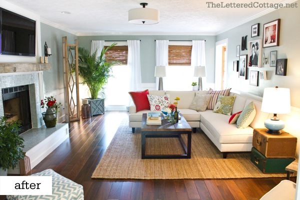 Drop dead gorgeous Family Room: Living Rooms, Livingrooms, Beautiful Living, White Sofas, Wall Color, Family Rooms, White Couch