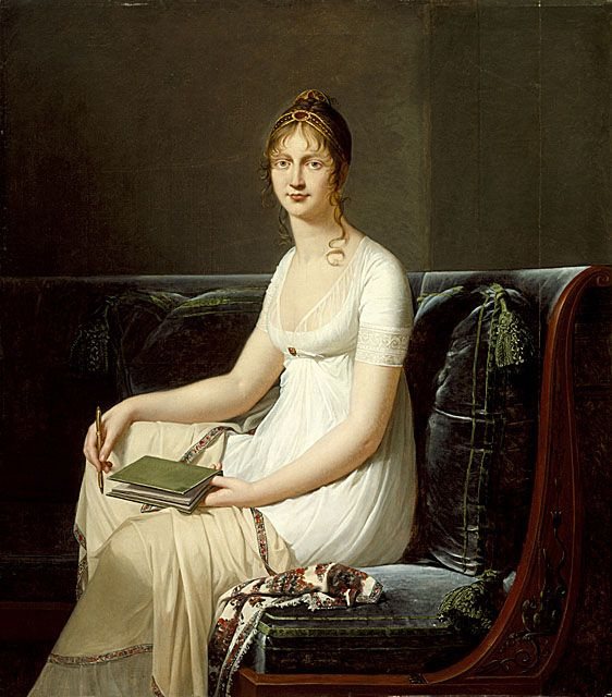 Portrait of a Woman Holding a Pencil and a Drawing Book, Robert-Jacques Lefèvre, circa 1808, LACMA Collections Online