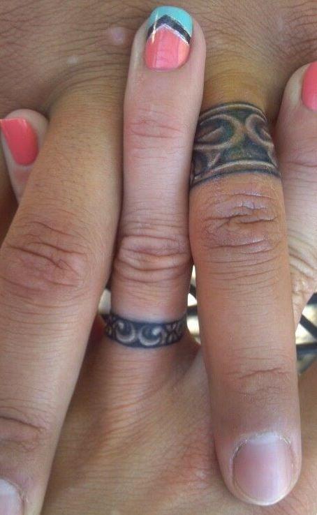 Wedding ring tattoo design                                                                                                                                                                                 More