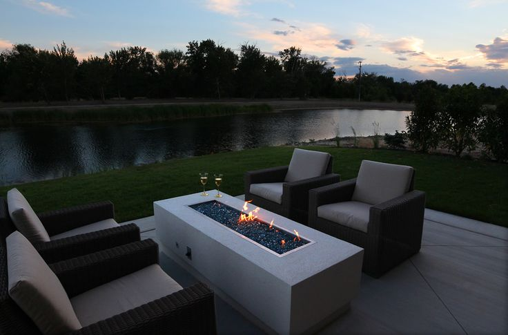 Renovare Model Home. The view of the Boise River that runs through the backyard of our luxurious community.