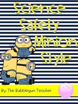 Science Safety Minion Style by The Bubblegum Teacher | Teachers Pay Teachers  Science, safety posters, lab rules