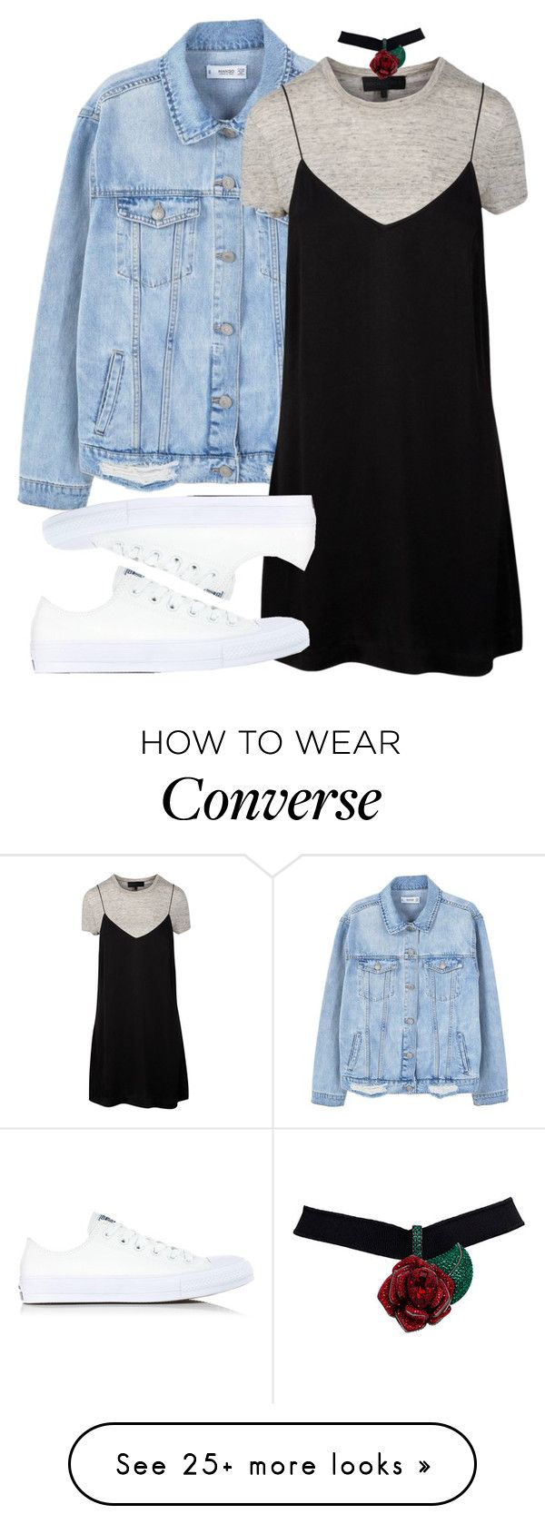 """""""Untitled #904"""" by fashionista2704 on Polyvore featuring MANGO and Converse"""