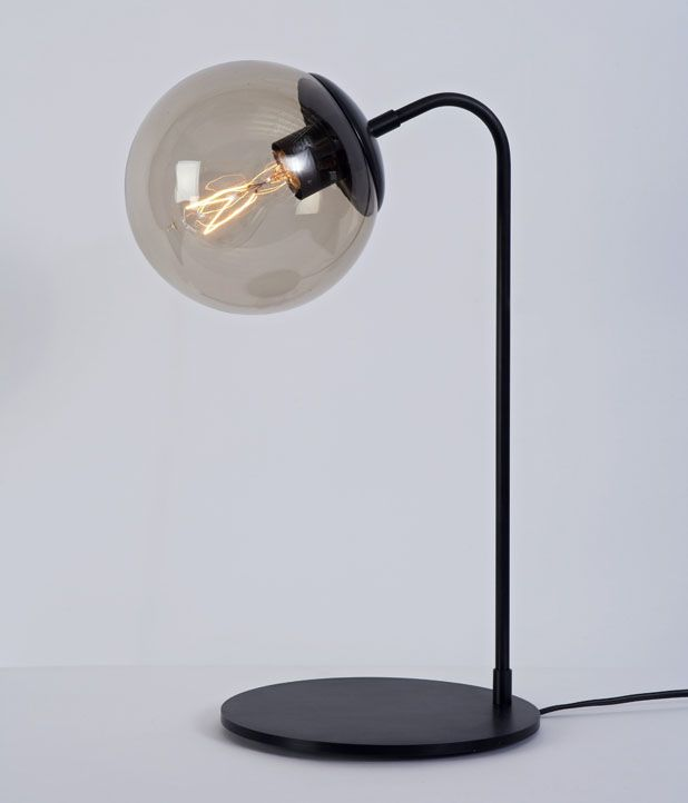 Modo desk lamp jason miller 2010 machined aluminum glass metal finishes black bronze brass copper glass clear or smoked dia x h