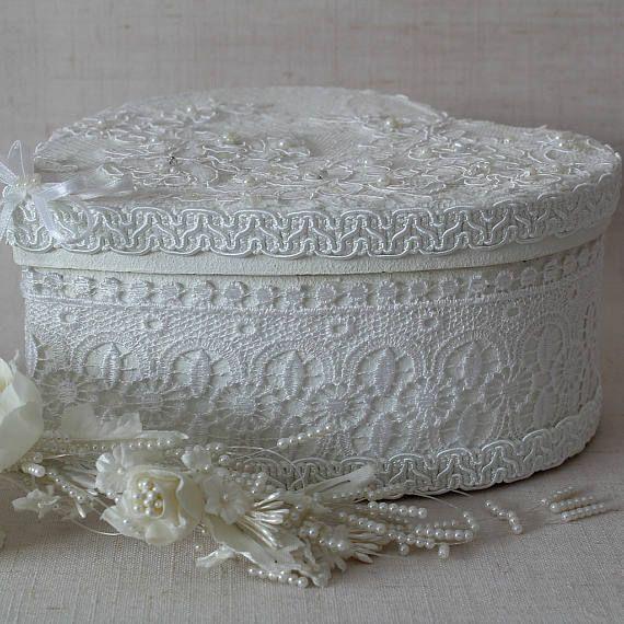 Witte Gift Box met deksel hart gevormde Box de doos van de