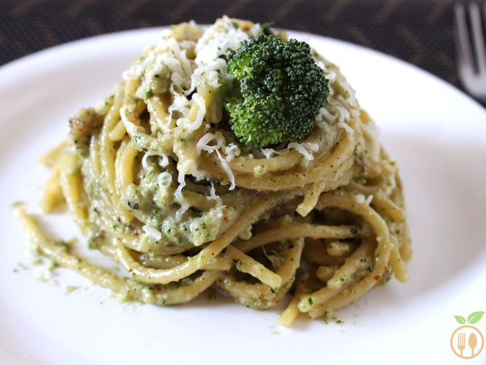 Broccoli pesto spaghetti topped with freshly grated cheese is quick and healthy dinner. Do you know how to make delicious broccoli pesto spaghetti in just 30 minutes? Let's make this together. This is one of the easiest pasta recipes. I have prepared it with very basic recipe of Broccoli Pesto which you can find in my previous week recipes.