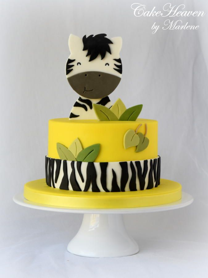 Happy Zebra Cake by CakeHeaven by Marlene