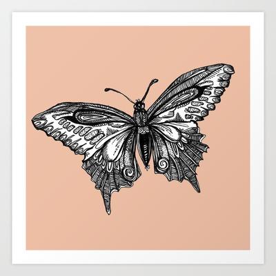 Butterfly Art Print by Aubree Eisenwinter - $17.68