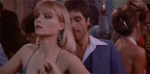 """""""Now your talking to me beh-bee, And dat I like..."""" Tony Montana. Al Pacino. Michelle Phifer."""