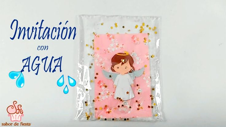 INVITACIÓN CON AGUA P/ BABY SHOWER, BAUTIZO, COMUNIÓN 🎈 Sabor de Fiesta