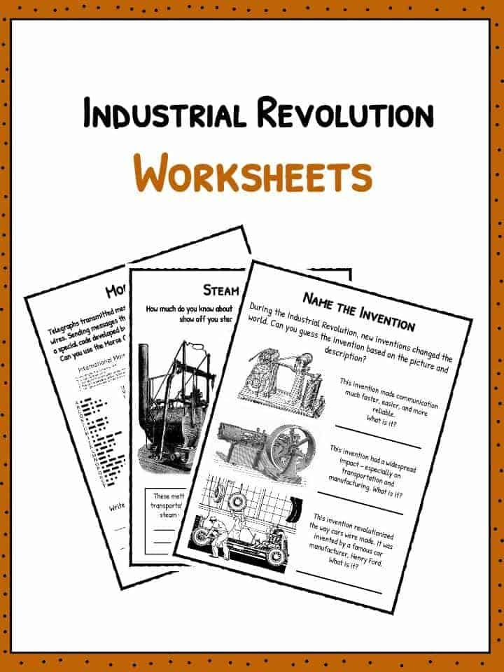 Industrial Revolution Facts Worksheets Inventions Timeline For