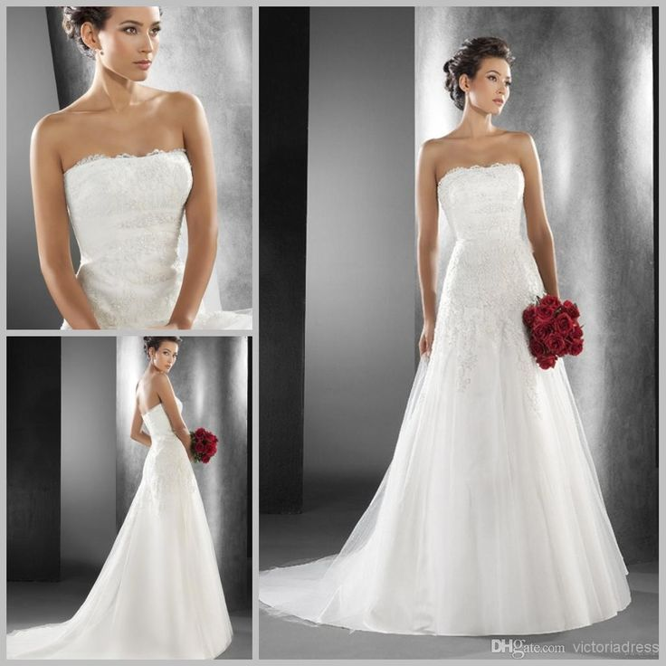 Cheap Country Lace Modest Wedding Dresses 2015 New Sexy Backless V Back Straps Elegant A Line Court Train Mermaid Gowns As Low 14071 Also Buy