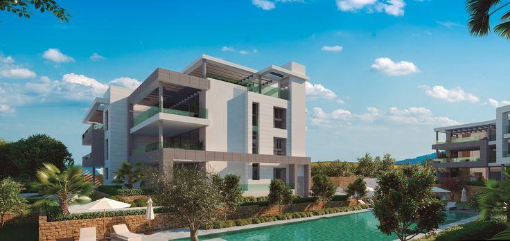 Net zoals bij de villa's typeert de moderne en luxueuze architectuur de SYZYGY luxe appartementen. Gelegen op 1 km van de zee, beschikken de bovenliggende appartementen en penthouses over een prachtig uitzicht over het omringende platteland en de Middellandse zee. #Syzygy #Marbella #penthouse #appartement #CostaDelSol #InvestinSpain #spanje