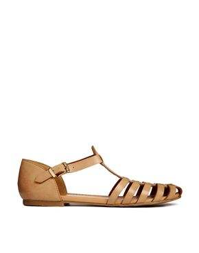 New Look Limbo Thin Cage Flat Shoes