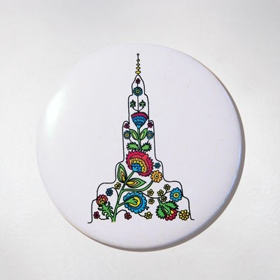 Fridge Magnet - Folk Palace. The colourful souvenir from Warsaw for your fridge or magnetic board. $10 zł.
