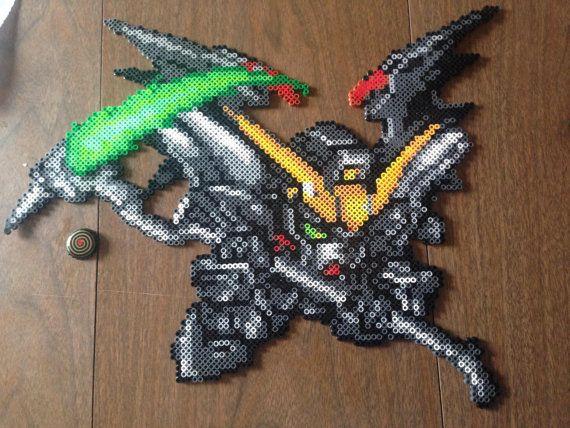 Gundam Deathscythe Hell Beadsprite personnalisé par RedCometBeads, $35.00