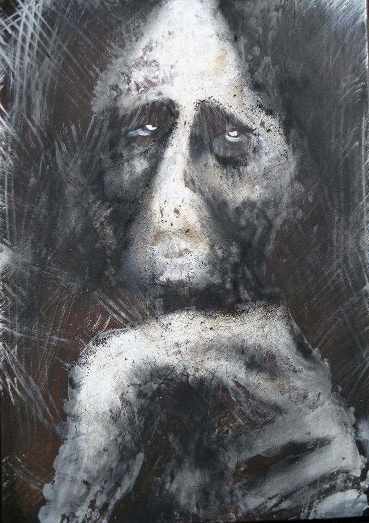"""""""In memory of fear and suffering"""", charcoal, acryl"""