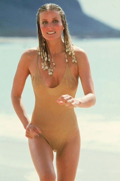 20 most iconic beach hair of all time: Bo Derek takes a non traditional approach to beach hair by sporting a full head of corn rows complete with glass beads.