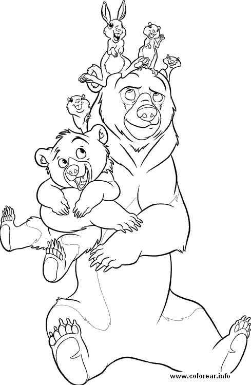 es bear cs3gif coloring page brother - Brother Bear Moose Coloring Pages