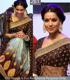 Buy Heavy worked bollywood inspired multicolor shaded saree for all occasion by bipasha basu bipasha-basu-saree online