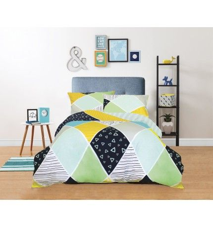 Freckles Single Bed Quilt Cover Set - Super Geo