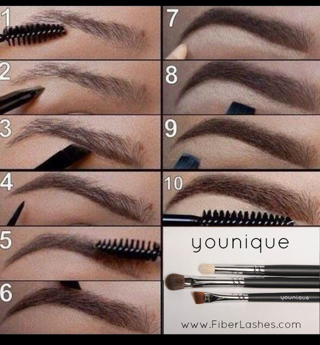 Brows are your most important feature. Even if you do not have full brows, keep them shaped and fill them in! A dark eyeshadow and a eye definer brush will give you flawless results!