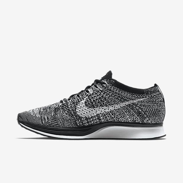 Find great deals for Nike Flyknit Racer Black/White Unisex Shoes. Shop  today and get FREE socks.