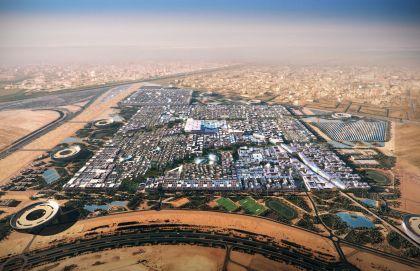 Un'immagine di Masdar city dall'alto.