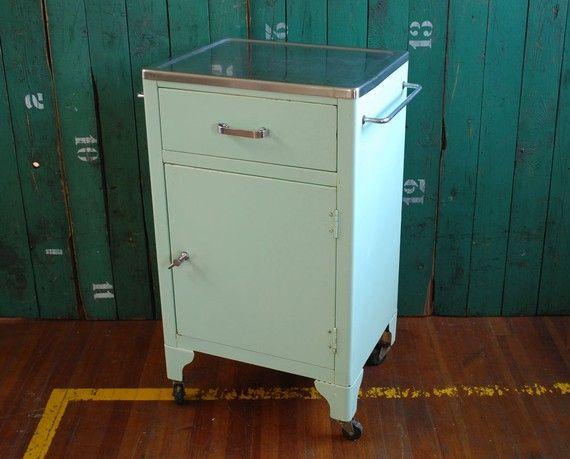Mid-century metal cabinet.