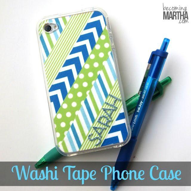 DIY Washi Tape Phone Case - Becoming Martha