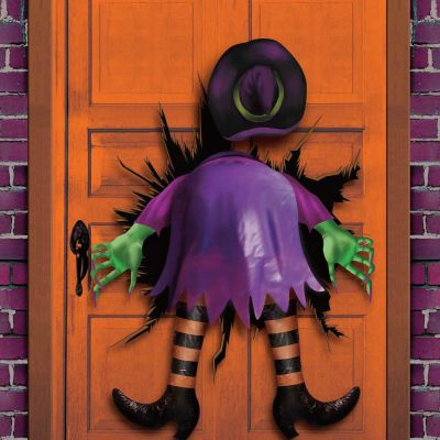 """halloween witches decorations   11- Halloween Crashed Witch with stuffed butt and legs (28""""X48"""") for ..."""
