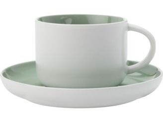 With a matte texture and gentle contours, this collection will make a subtle and soothing addition to your home #maxwellandwilliams #tint #tecupandsaucer #pastel #entertain #teaparty